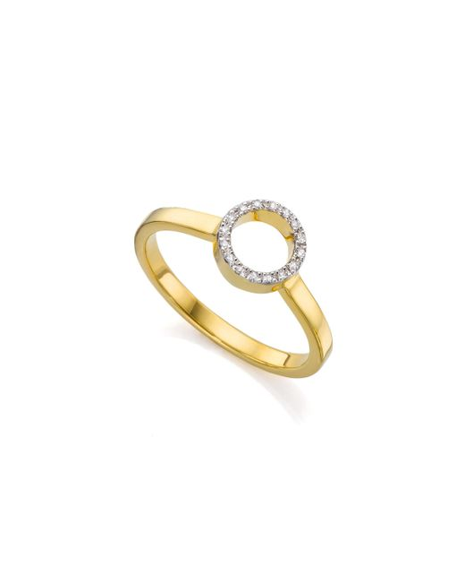 Monica Vinader - Metallic Naida Mini Circle Open Ring - Lyst