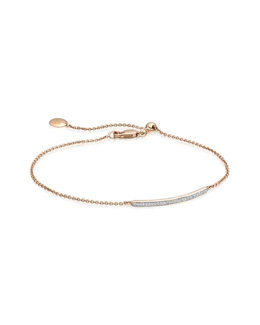 Monica Vinader - Pink Skinny Short Bar Bracelet - Lyst