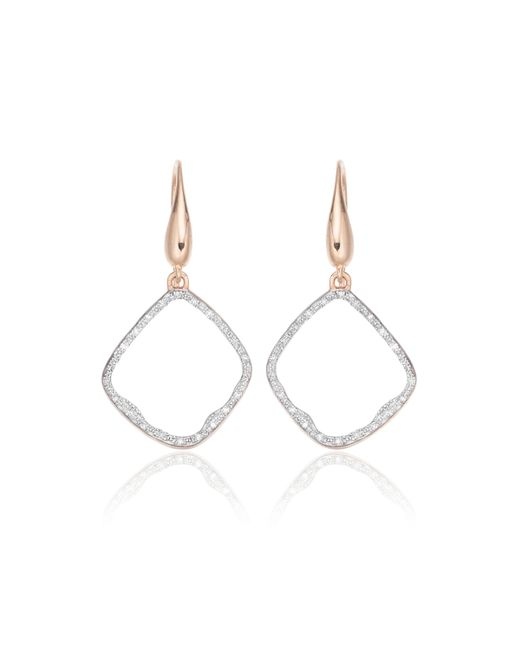 Monica Vinader - Metallic Riva Diamond Hoop Earrings - Lyst