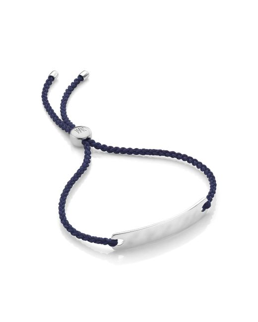 Monica Vinader - Blue Linear Bead Friendship Bracelet - Lyst