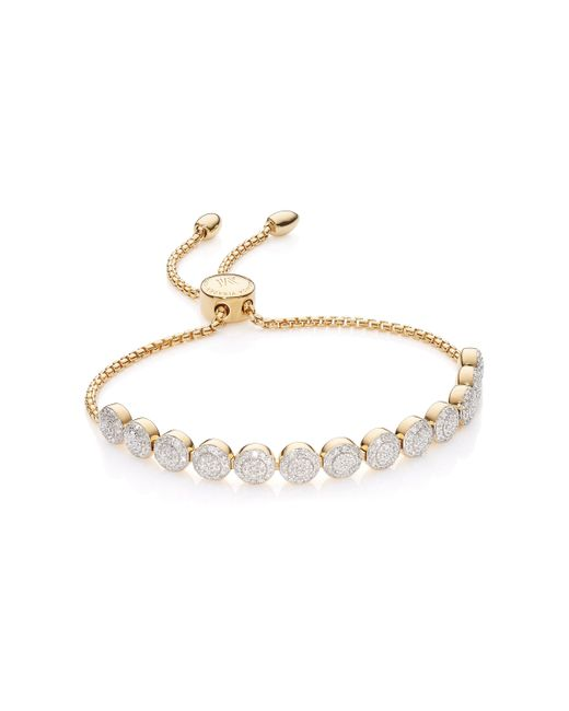 Monica Vinader - Metallic Fiji Mini Button Friendship Chain Bracelet - Lyst