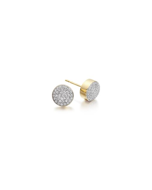 Monica Vinader | Metallic Ava Button Stud Earrings | Lyst