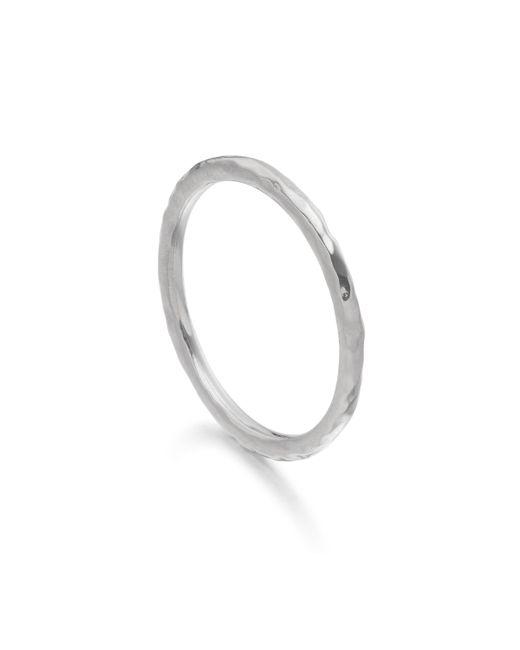 Monica Vinader | Metallic Hammered Ring | Lyst