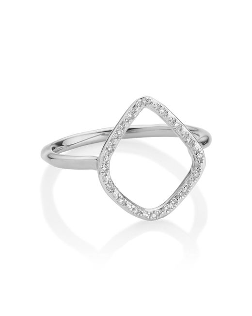 Monica Vinader - Metallic Riva Diamond Hoop Ring - Lyst