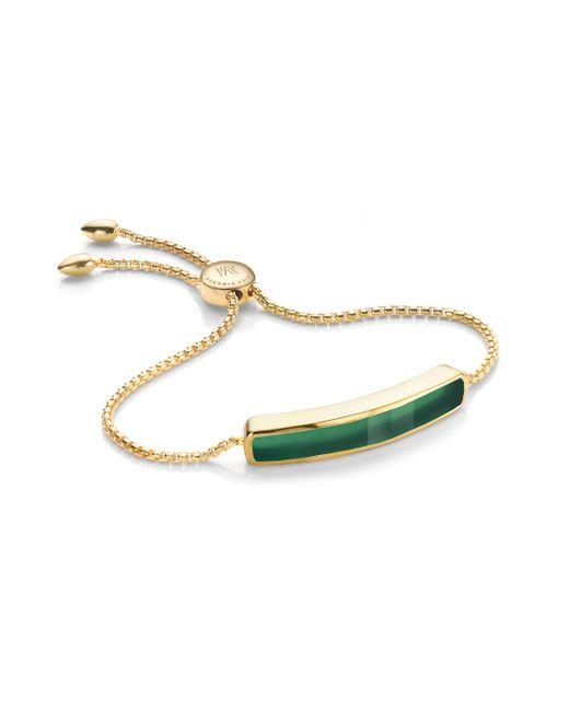 Monica Vinader - Green Baja Bracelet - Lyst