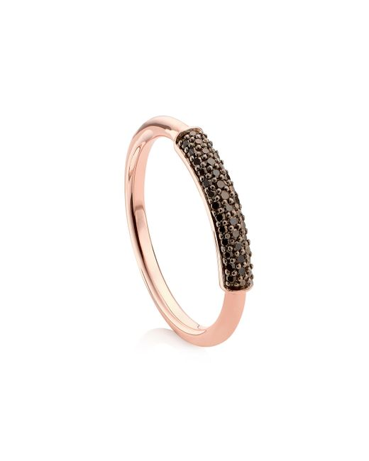 Monica Vinader - Pink Stellar Diamond Stacking Ring - Lyst