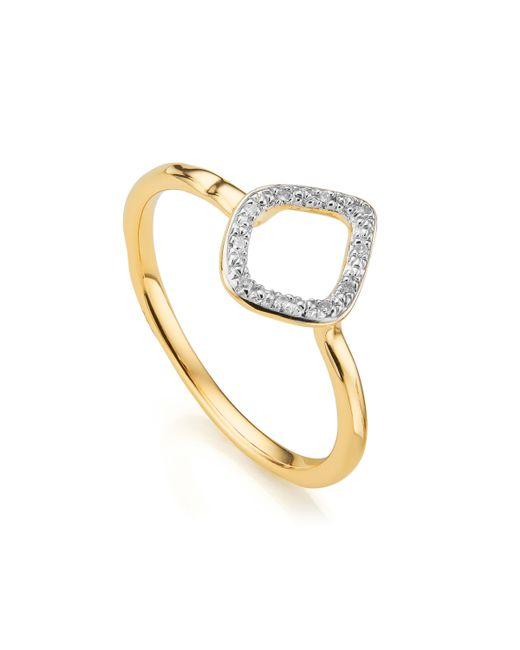 Monica Vinader | Metallic Riva Mini Kite Diamond Stacking Ring | Lyst