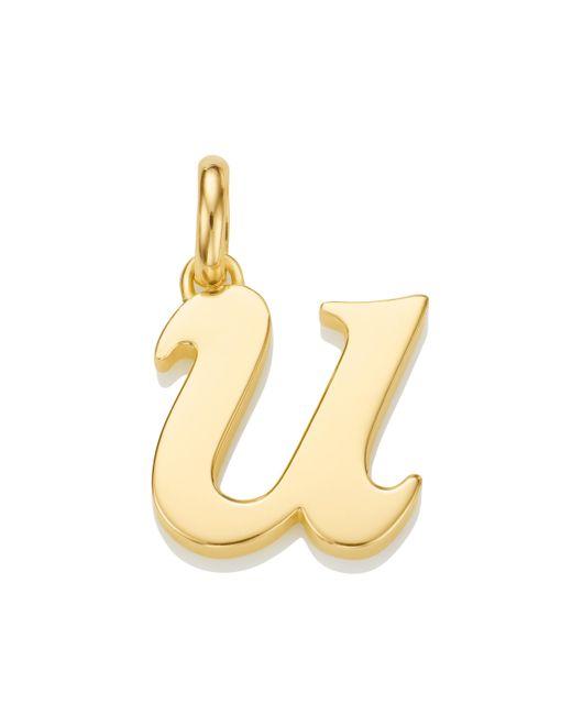 Monica Vinader - Metallic Alphabet Pendant U - Lyst