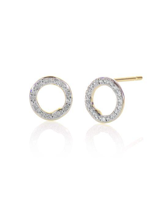 Monica Vinader - Metallic Riva Diamond Circle Stud Earrings - Lyst
