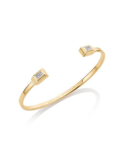 Monica Vinader | Metallic Baja Deco Thin Diamond Cuff | Lyst