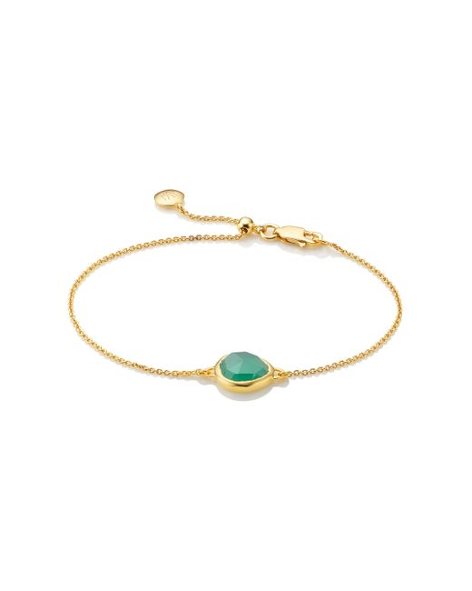 Monica Vinader | Green Siren Fine Chain Bracelet | Lyst