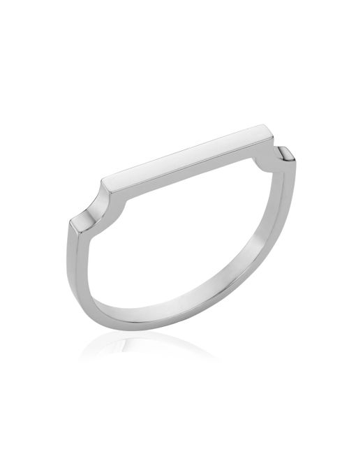 Monica Vinader - Metallic Engravable Signature Thin Ring - Lyst