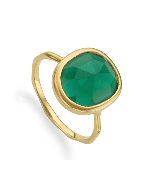 Monica Vinader - Green Siren Medium Stacking Ring - Lyst