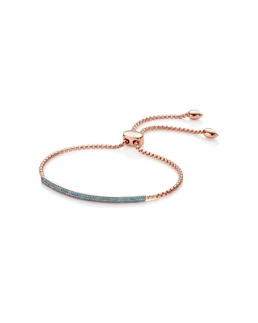 Monica Vinader | Blue Stellar Diamond Mini Bar Bracelet | Lyst