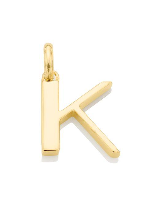 Monica Vinader - Metallic Alphabet K Pendant Charm - Lyst