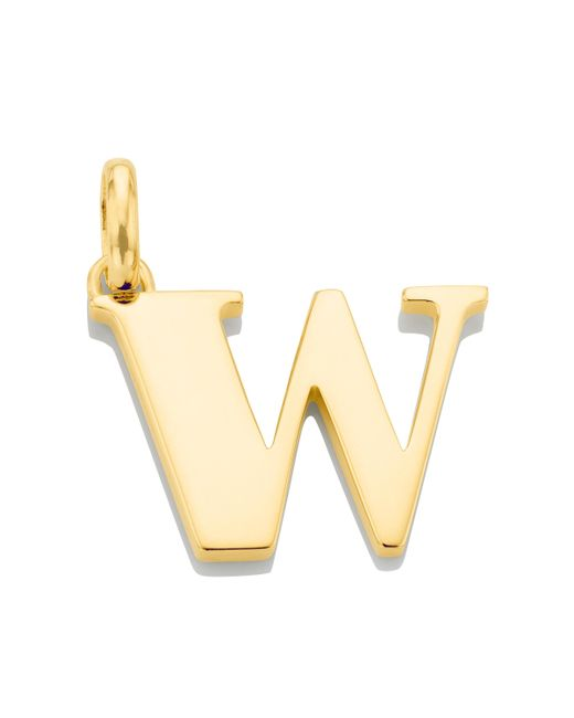 Monica Vinader | Metallic Alphabet Pendant W | Lyst