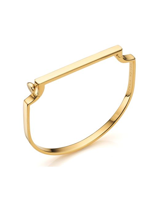 Monica Vinader - Metallic Signature Petite Bangle - Lyst