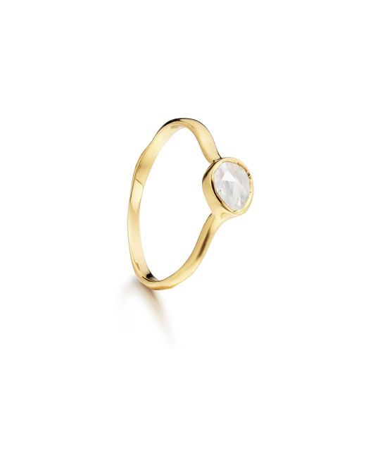 Monica Vinader - Metallic Siren Small Stacking Ring - Lyst