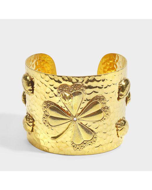Sylvia Toledano - Metallic Lucky U Cuff In Gold 18k Gold Plated Brass - Lyst