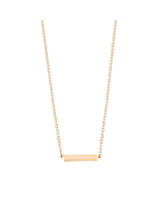 Ginette NY | Metallic Gold Strip Necklace | Lyst