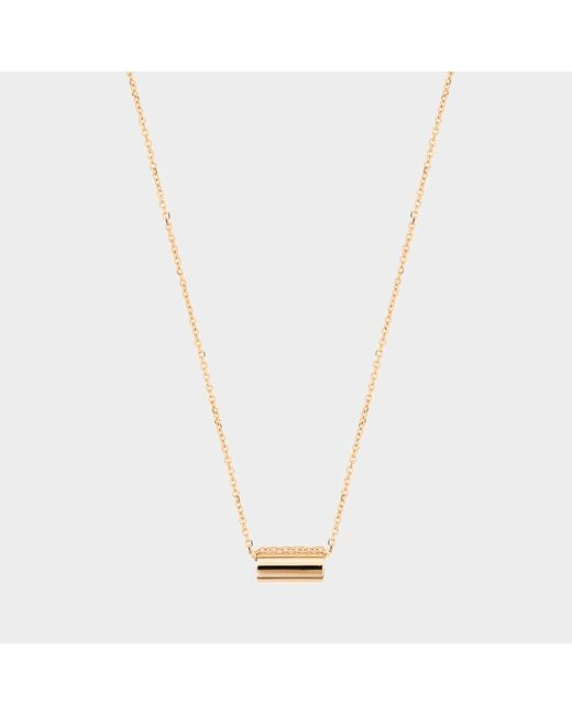 Ginette NY - Metallic Mini Straw On Chain Necklace - Lyst