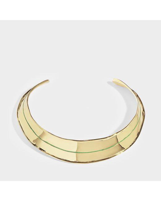 Aurelie Bidermann - Metallic Ajoncs Gold-plated Necklace With Emerald Green Enamel Detail - Lyst