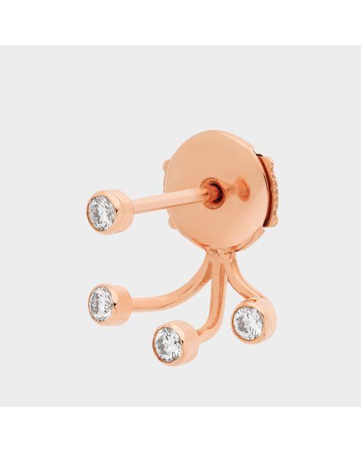 Vanrycke - Pink Ear Jacket Supernov Earringsa In Gold And Diamonds - Lyst
