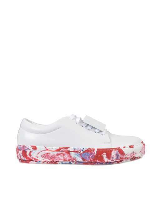 Acne - White Adriana Leather Sneaker - Lyst