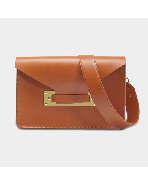 Sophie Hulme - Brown Milner Bag In Tan Cowhide Leather - Lyst