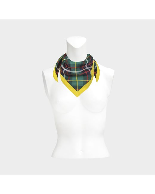 Burberry - Multicolor Vintage Check Bandana Scarf In Racing Green Silk - Lyst