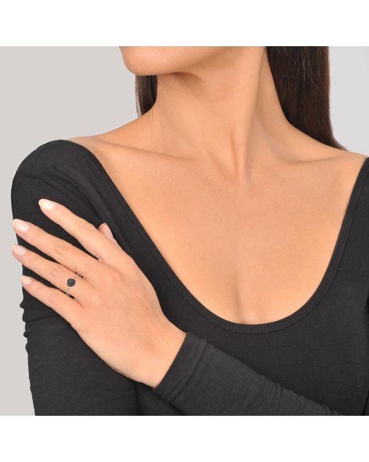 Ginette NY - Mini Black Diamond Ever Disc Ring - Lyst
