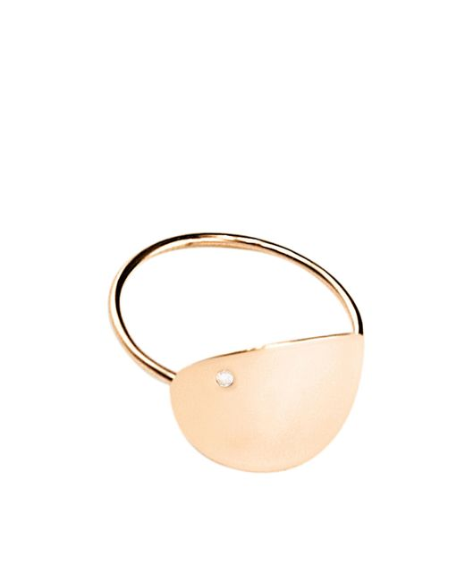 Ginette NY - Metallic Large Sequin And Diam Ring - Lyst