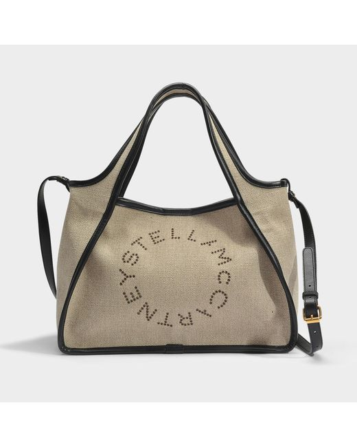 Alter Nappa Crossbody Stella Logo Bag in Pecan Eco Fabric Stella McCartney oOpQ9M9WK