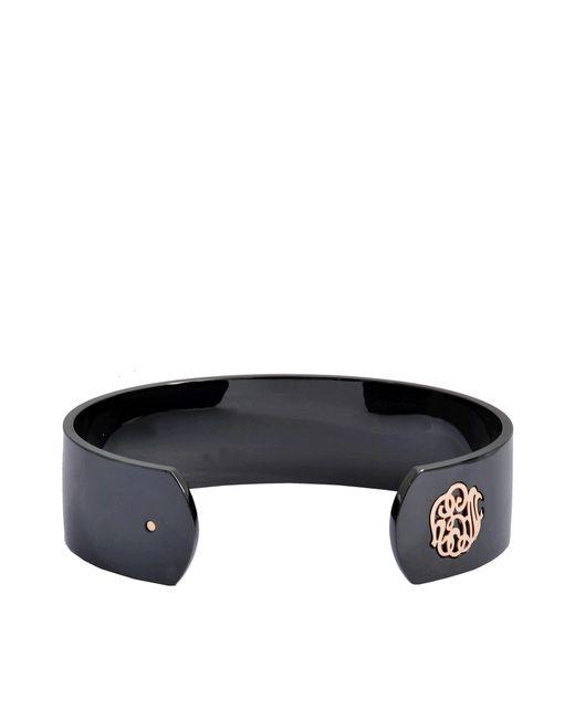 Ginette NY | Black Ceramic Monogram Bracelet | Lyst