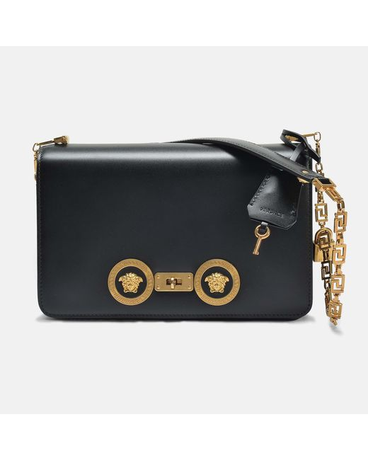 e3bb4e108d Versace Greek Medusa Shoulder Bag in Black - Save 9% - Lyst