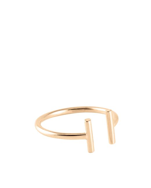 Ginette NY - Metallic Gold Strip Open Ring - Lyst