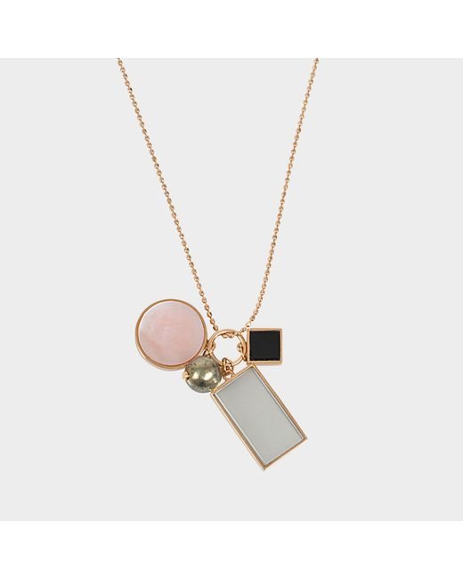 Ginette NY - Multicolor Ever Frost Charm Necklace - Lyst