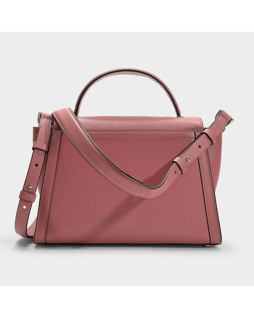 7f92a939238c5 ... MICHAEL Michael Kors - Pink Whitney Medium Top Handle Satchel Bag In  Rose Calfskin - Lyst ...