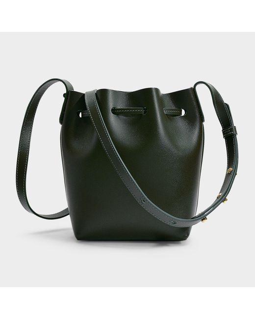 1313c12f366a ... Mansur Gavriel - Mini Mini Bucket Bag In Green Calfskin - Lyst ...
