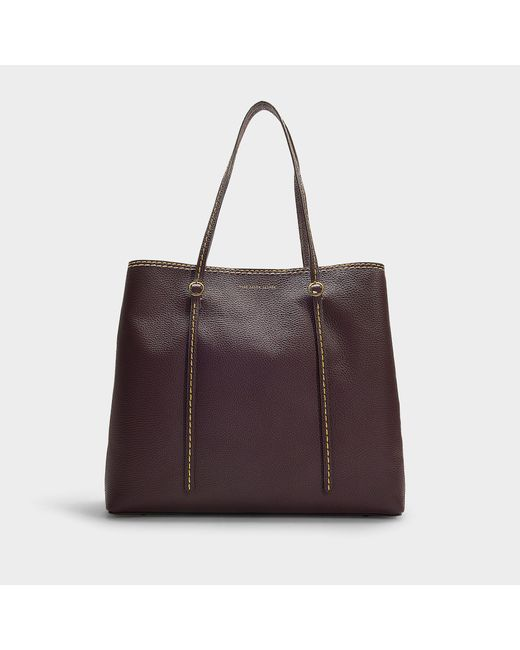 Polo Ralph Lauren - Multicolor Big Lennox Tote Bag In Wine Calfskin - Lyst