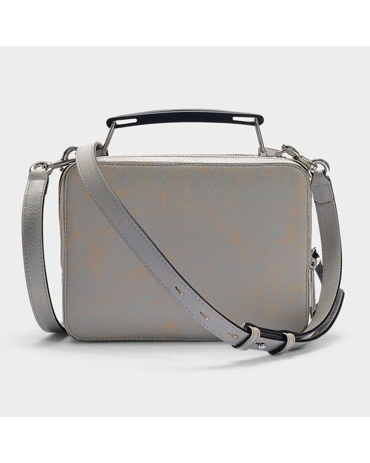 06e3f50ce98d ... Marc Jacobs - Multicolor The Box Camera Bag In Grey Calfskin - Lyst ...