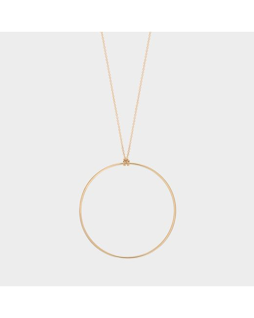 Ginette NY - Metallic Cercle Rose Gold Necklace - Lyst