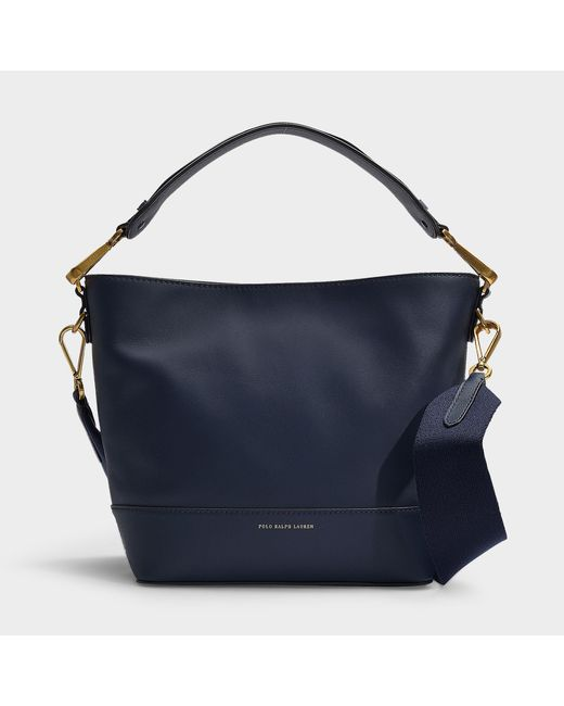 bd2e7e91d723 Polo Ralph Lauren - Blue Sullivan Bucket Hobo Small Bag In Navy Calfskin -  Lyst ...