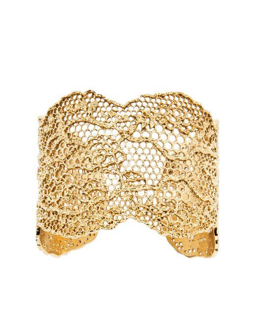 Aurelie Bidermann   Metallic Vintage Lace Bracelet   Lyst