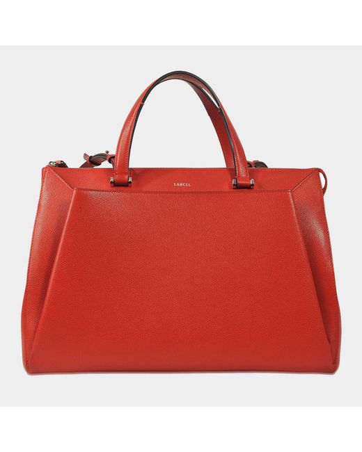 Lancel - Red Louise L Tote - Lyst