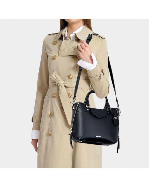 ec9b0c1bce40 ... MICHAEL Michael Kors - Blakely Medium Messenger Bag In Black Calfskin -  Lyst ...