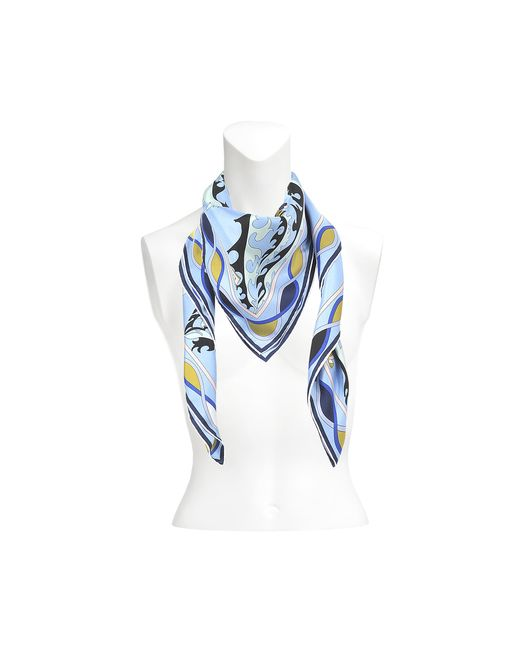 Emilio Pucci | Blue Silk Square 90x90 Petites Fleurs | Lyst