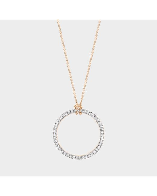 Ginette NY - Metallic Mini Diamond Circle On Chain Necklace - Lyst