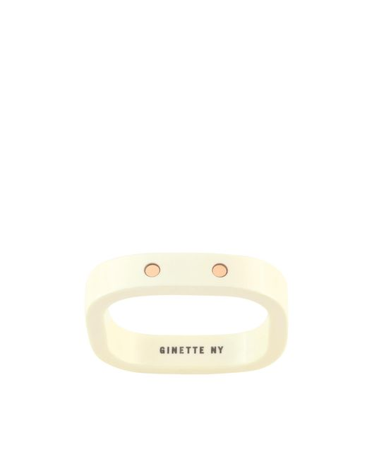 Ginette NY - Metallic Ivory Ceramic And Gold Tv Ring - Lyst