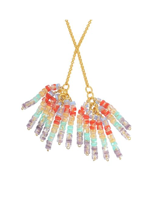 Aris Geldis | Multicolor Tie Sautoir With Multicoloured Beads | Lyst